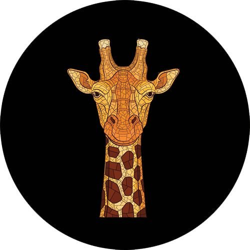 Capa para estepe Ecosport Crossfox + Cabo + Cadeado Girafa
