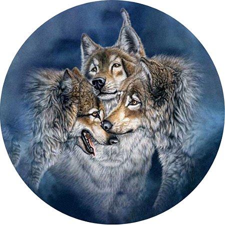 Capa Personalizada para Estepe Ecosport Crossfox Lobos