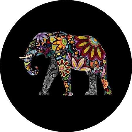 Capa para estepe Ecosport Crossfox + Cabo + Cadeado Elefante Psicodélico