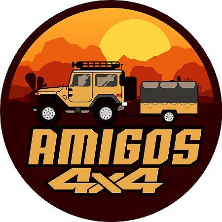 Capa para estepe Ecosport Crossfox + Cabo + Cadeado Amigos 4x4