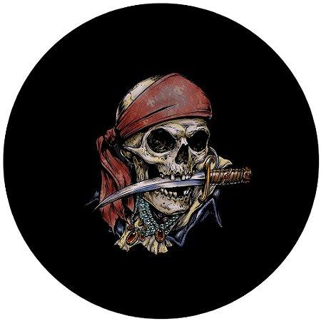 Capa para estepe Ecosport Crossfox + Cabo + Cadeado Caveira Pirata