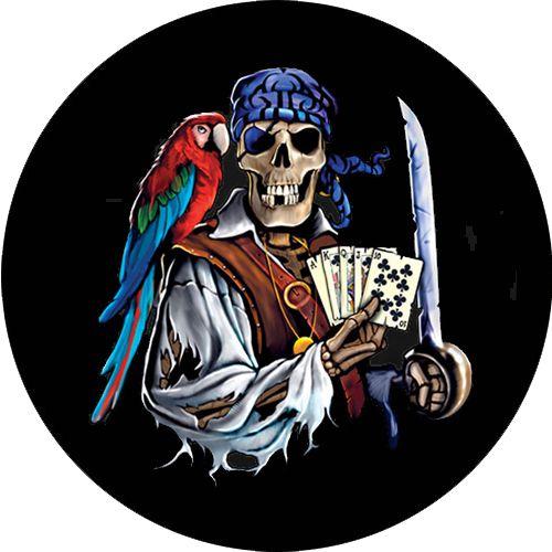 Capa para estepe Ecosport Crossfox + Cabo + Cadeado Esqueleto Pirata