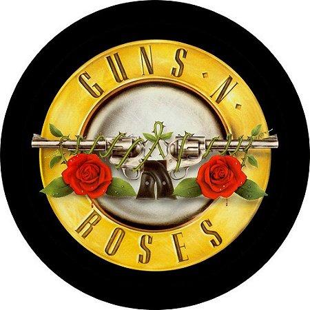 Capa para estepe Ecosport Crossfox + Cabo + Cadeado Guns N' Roses
