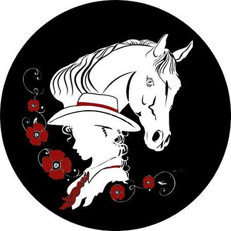 Capa para estepe Ecosport Crossfox + Cabo + Cadeado Dama e Cavalo
