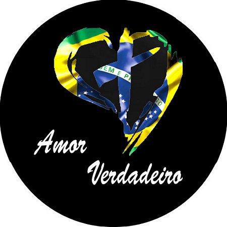 Capa para estepe Ecosport Crossfox + Cabo + Cadeado Amor Verdadeiro