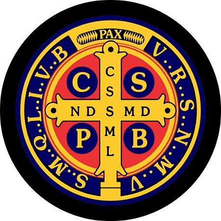 Capa Personalizada para estepe Ecosport Crossfox + Cabo + Cadeado Religioso Cruz Sagrada