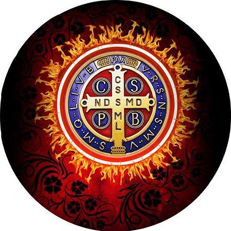 Capa Personalizada para estepe Ecosport Crossfox + Cabo + Cadeado Religioso Cruz Sagrada São Bento