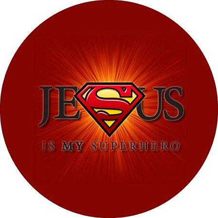 Capa Personalizada para Estepe Ecosport Crossfox + Cabo + Cadeado Religioso Super Jesus