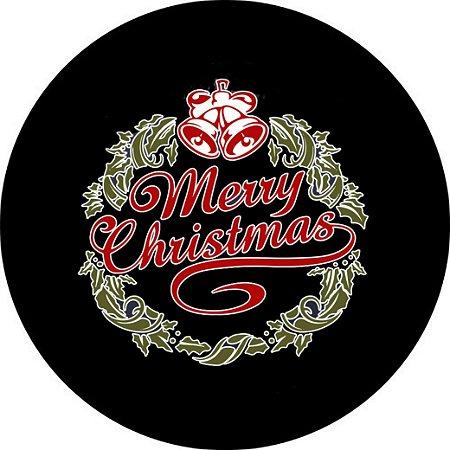 Capa para estepe Ecosport Crossfox + Cabo + Cadeado Merry Christmas