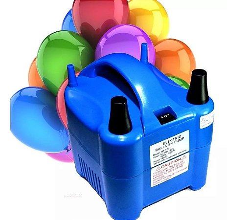 Bomba de Ar Inflador Profissional Bexigas e Balões 2 Bicos 220V