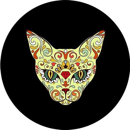 Capa para estepe Ecosport Crossfox + Cabo + Cadeado Felino Gato Tribal