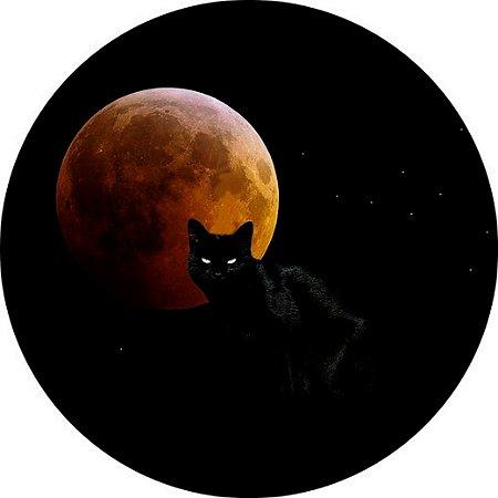 Capa para estepe Ecosport Crossfox + Cabo + Cadeado Felino Gato e Lua