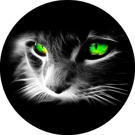 Capa para estepe Ecosport Crossfox + Cabo + Cadeado Felino Gato