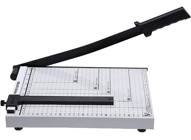 Guilhotina Papel Corte Reto Preciso Base Metálica 30cm 10 Folhas