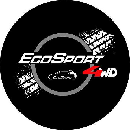 Capa Estepe Personalizada Cabo Aço + Cadeado Exclusivo Especial Ecosport