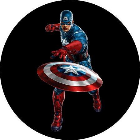 Capa Personalizada para Estepe Ecosport Crossfox Aircross Capitão América Marvel