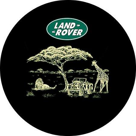 Capa para estepe Pneu Exclusiva Land Rover Defender Safari
