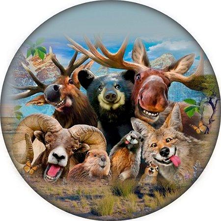 Capa para estepe Ecosport Crossfox + Cabo + Cadeado Selfie Animal