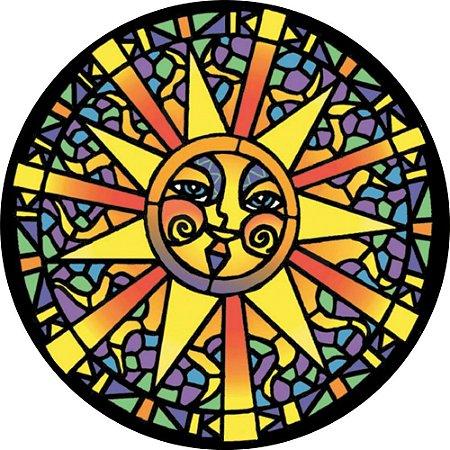 Capa para estepe Ecosport Crossfox + Cabo + Cadeado Mosaico Sol
