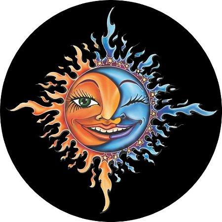 Capa para estepe Ecosport Crossfox + Cabo + Cadeado Sol e Lua