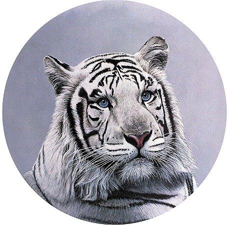 Capa para estepe Ecosport Crossfox + Cabo + Cadeado Tigre Branco