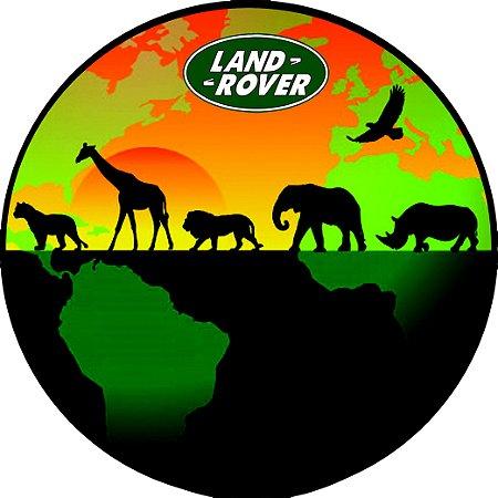 Capa Personalizada para Estepe Pneu Exclusiva Land Rover Defender Animais África