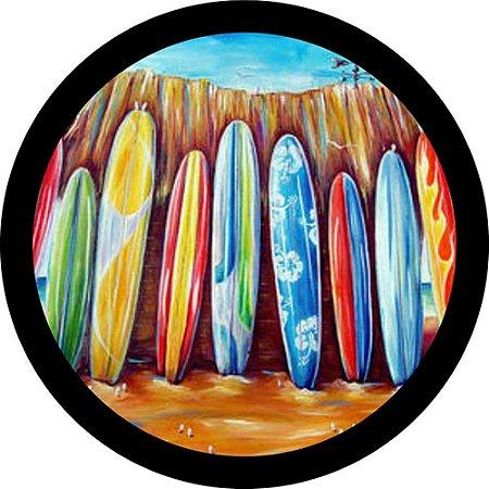 Capa para estepe Ecosport Crossfox + Cabo + Cadeado Prancha de Surf