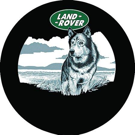 Capa para estepe Pneu Exclusiva Land Rover Defender Lobo