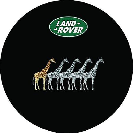 Capa Personalizada para Estepe Pneu Exclusiva Land Rover Defender Girafas