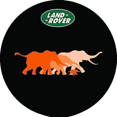 Capa Personalizada para Estepe Pneu Exclusiva Land Rover Defender Elefantes