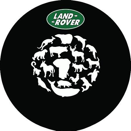 Capa para estepe Pneu Exclusiva Land Rover Defender Animais África