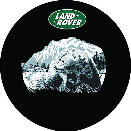 Capa Personalizada para Estepe Pneu Exclusiva Land Rover Defender Urso