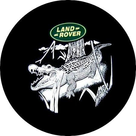 Capa Personalizada para Estepe Pneu Exclusiva Land Rover Defender Jacaré