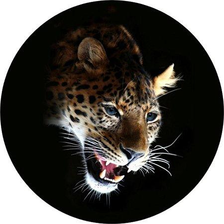 Capa para estepe Ecosport Crossfox + Cabo + Cadeado Leopardo