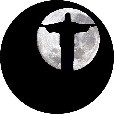 Capa Personalizada para Estepe Ecosport Crossfox + Cabo + Cadeado Religioso Cristo Redentor