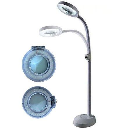 Lupa Luminária de 120 Leds com Tripé Flexível Estética