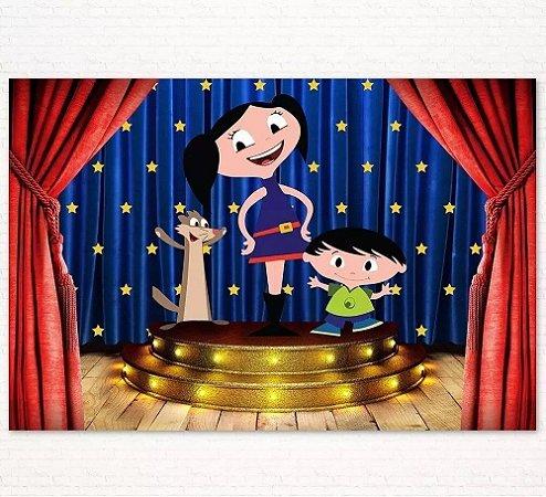Painel de Festa Infantil Personalizado em Tecido Tema Show da Luna