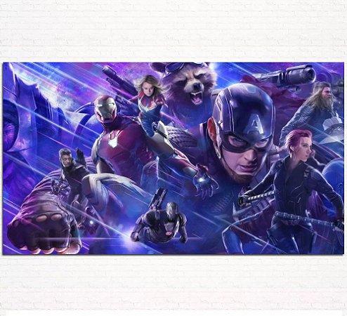 Painel de Festa Infantil Personalizado em Tecido Tema Vingadores Marvel 5