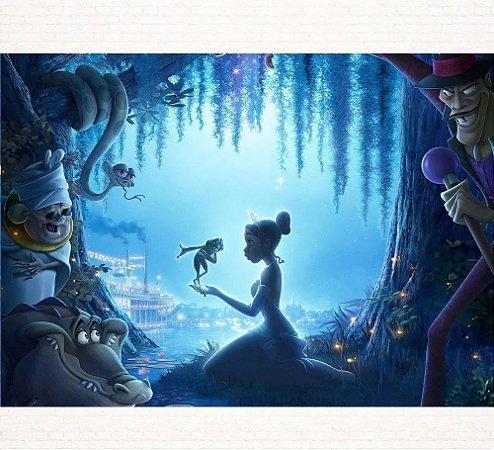 Painel de Festa Infantil Personalizado em Tecido Tema Princesas Disney Tiana 2