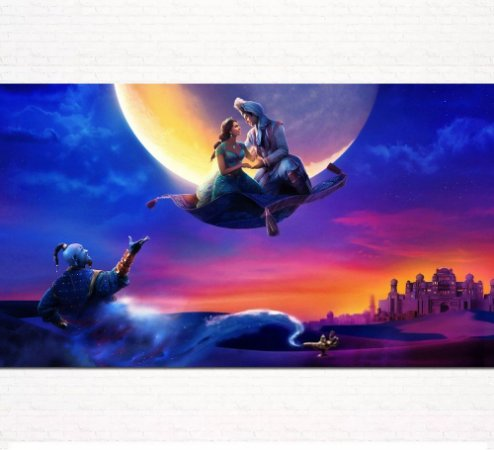 Painel de Festa Infantil Personalizado em Tecido Tema Aladdin 1