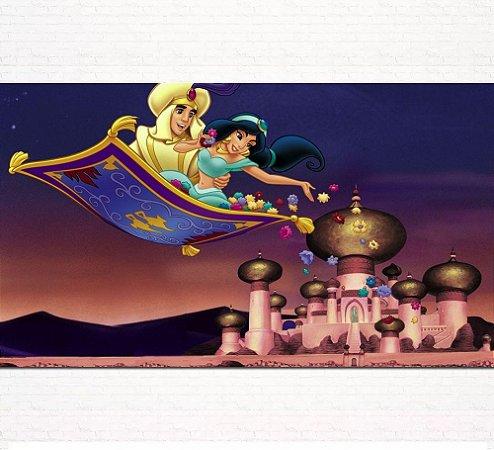 Painel de Festa Infantil Personalizado em Tecido Tema Aladdin 3