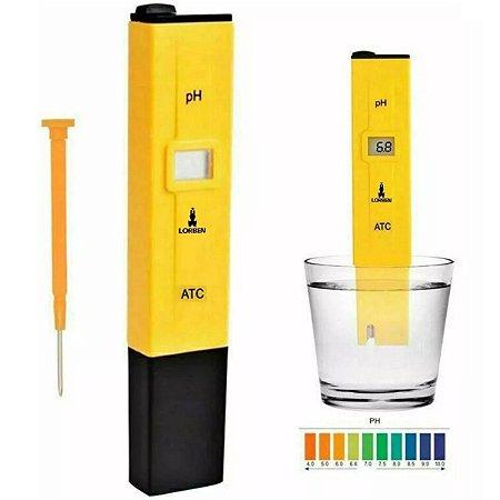 Medidor Ph Phmetro Portátil Água Digital Piscina Aquário Cloro