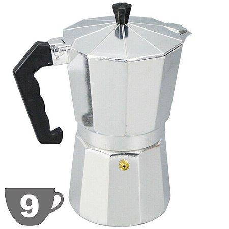 Cafeteira Italiana Alumínio Capacidade 450ml 9 Xícaras
