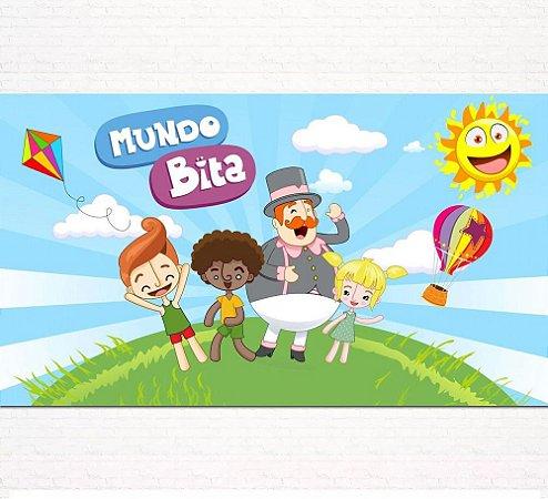 Painel de Festa Infantil Personalizado em Tecido Tema Mundo Bita 7