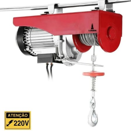 Talha Elétrica Guincho Guindaste 650W Capacidade 150kg a 300kg