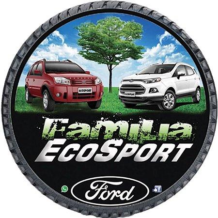 Capa Personalizada para Estepe Ecosport Crossfox + Cabo + Cadeado Família Ecosport