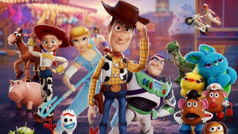 Painel de Festa Infantil Personalizado em Tecido Toy Story 2