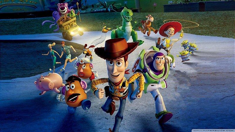 Painel de Festa Infantil Personalizado em Tecido Toy Story 3 PA81