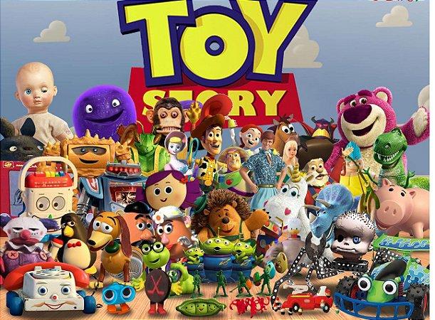 Painel de Festa Infantil Personalizado em Tecido Toy Story 7 PA85
