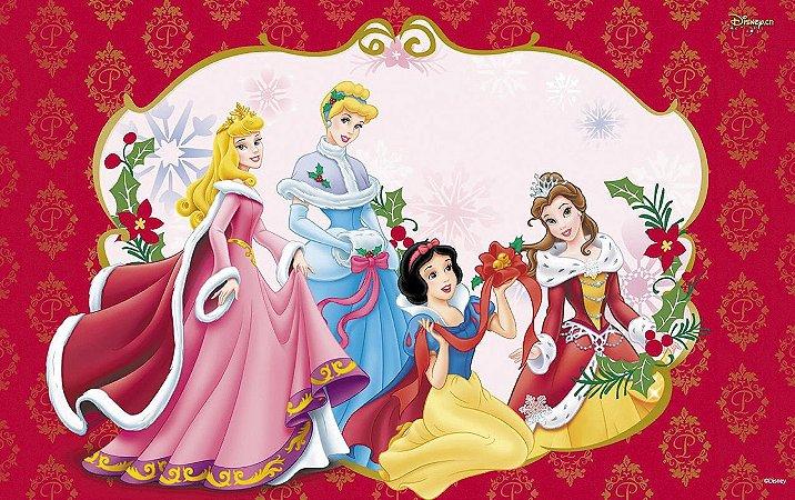 Painel de Festa Infantil Personalizado em Tecido Tema Princesas Disney 3